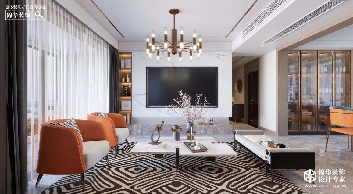 现代轻奢-中南熙悦-三室两厅-180㎡-装修实景效果图装修-三室两厅-轻奢