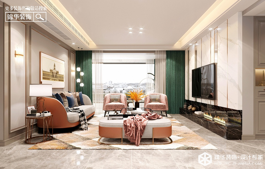 现代轻奢风格-碧桂园珺悦府-三室两厅-135㎡装修实景效果图装修-三室两厅-轻奢