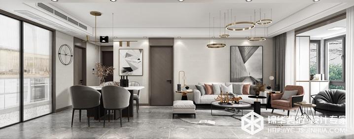 现代轻奢-保利紫荆公馆-三室两厅-109㎡装修实景效果图装修-三室两厅-现代简约
