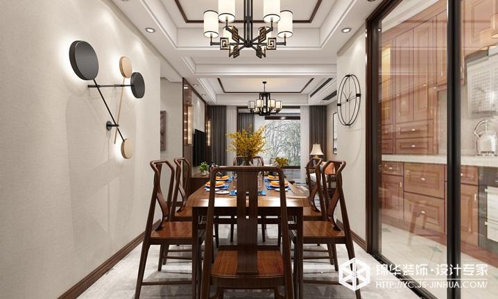 新中式风格-保利紫荆公馆-四室两厅-129㎡装修实景效果图装修-四室两厅-新中式