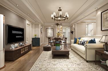 美式风格-碧桂园-四室两厅-139㎡装修实景效果图