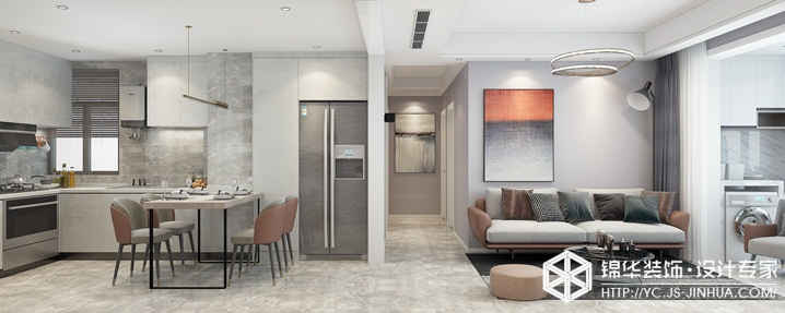 现代轻奢-晶都悦府-三室两厅-106㎡装修实景效果图装修-三室两厅-轻奢