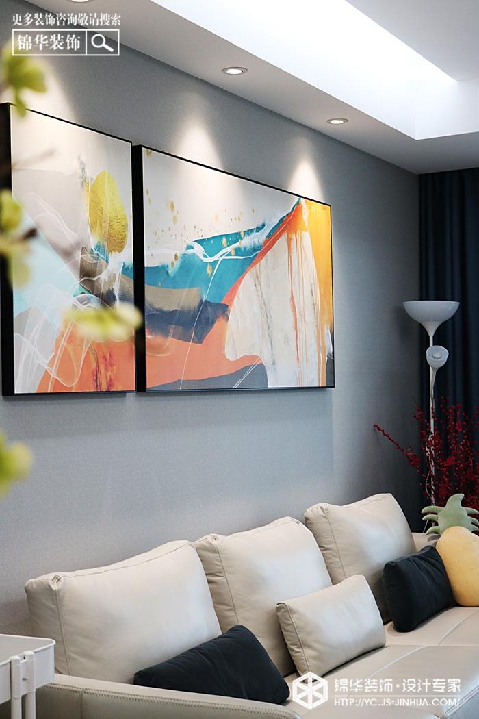 现代简约-香苑东园-三室两厅-125㎡装修实景效果图装修-三室两厅-现代简约