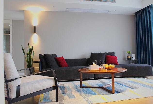 现代简约-在水一方-三室两厅-110㎡装修实景效果图