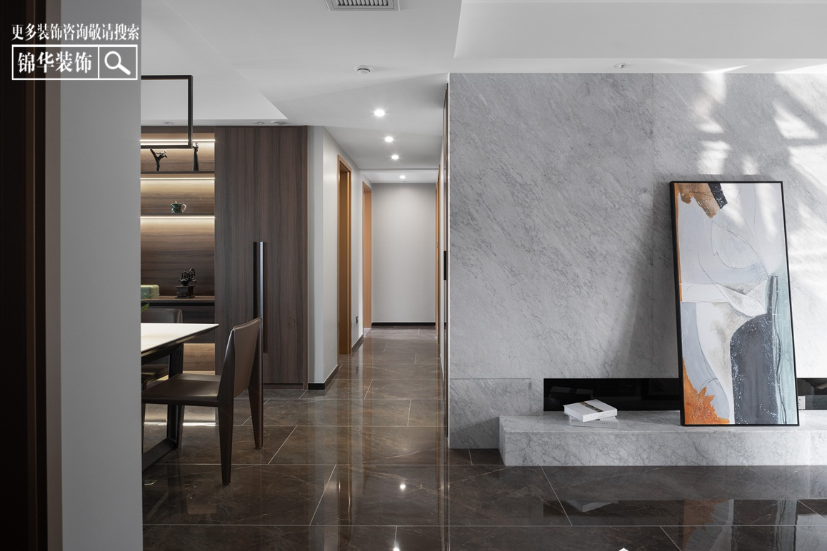 现代简约-悦珑湾-三室两厅-140㎡装修实景效果图装修-三室两厅-现代简约