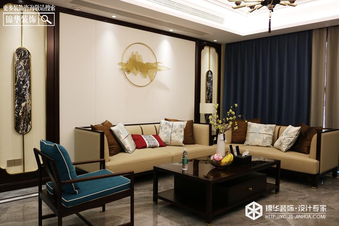 新中式-龙泊湾-四室两厅-230㎡装修实景效果图