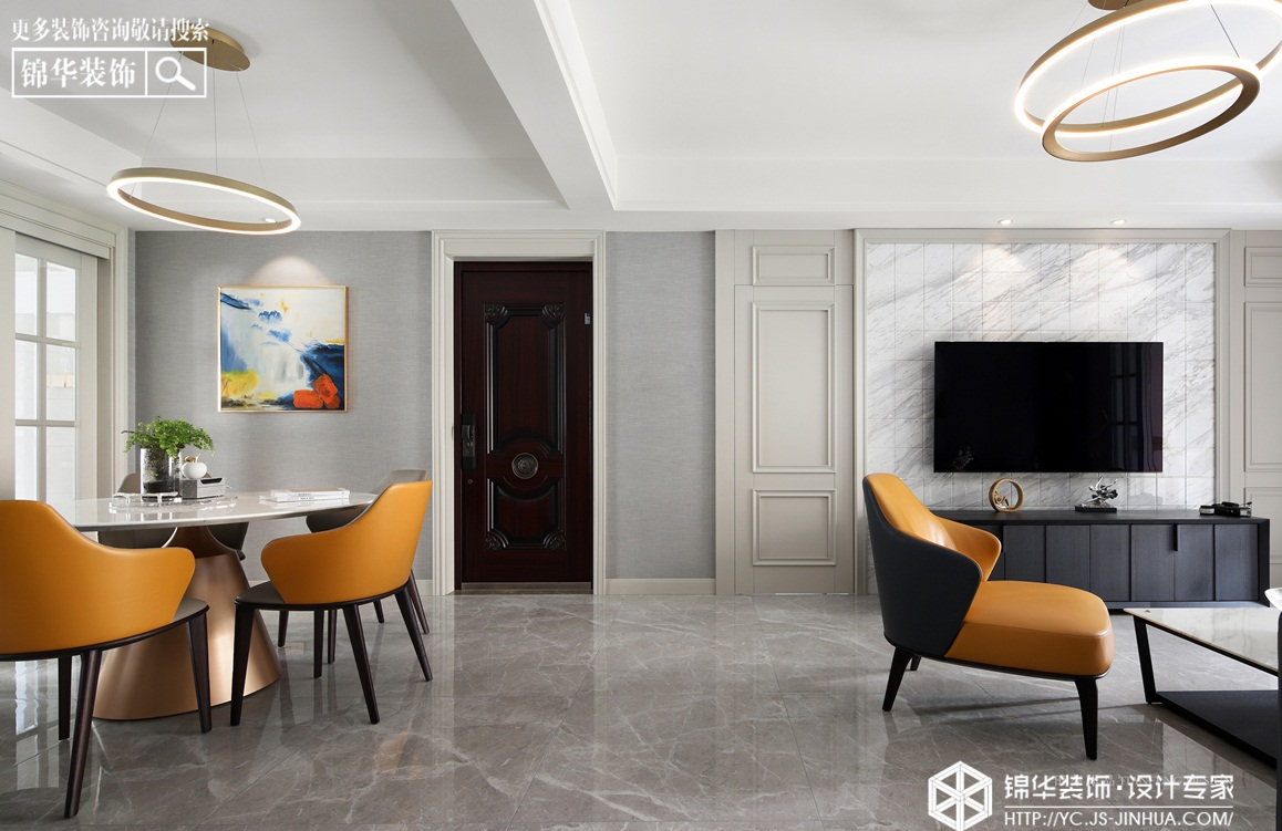 现代轻奢-凤鸣缇香-三室两厅-130㎡装修实景效果图装修-三室两厅-轻奢