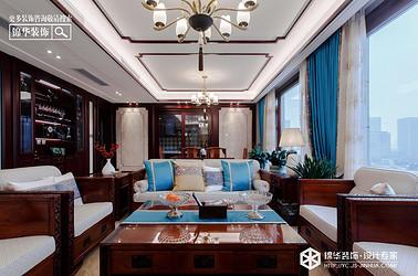 新中式风格-龙泊湾-平层-190㎡装修实景效果图