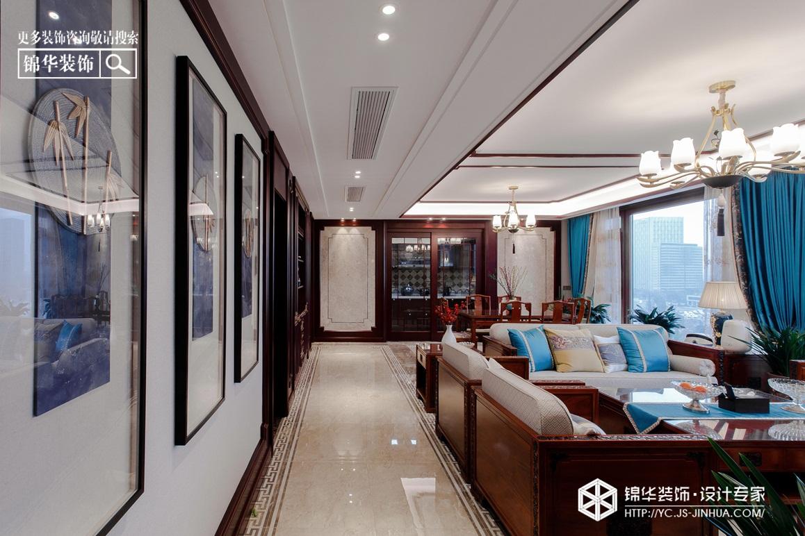 新中式风格-龙泊湾-平层-190㎡装修实景效果图装修-大户型-新中式