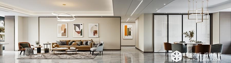 现代简约-万达大公馆 -平层-190㎡装修实景效果图装修-大户型-现代简约