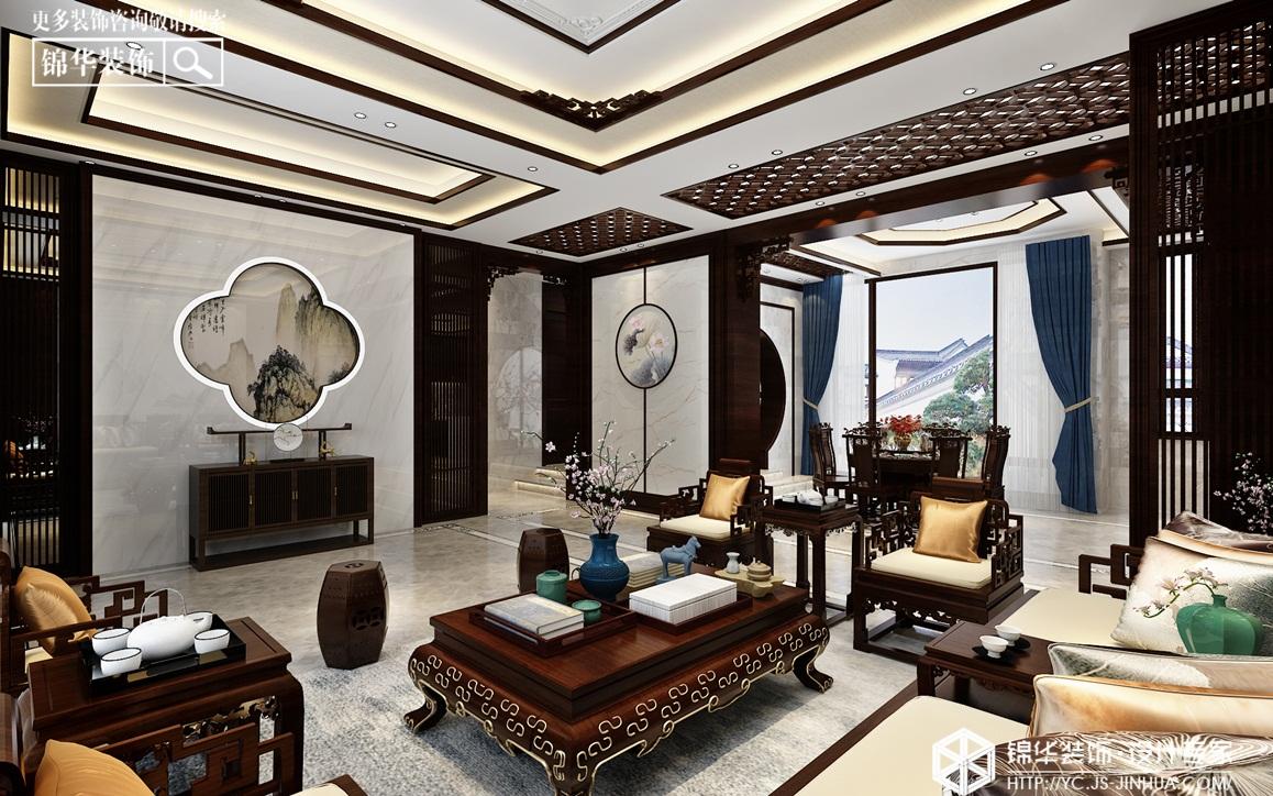 新中式-世外江南 -别墅-400㎡装修实景效果图
