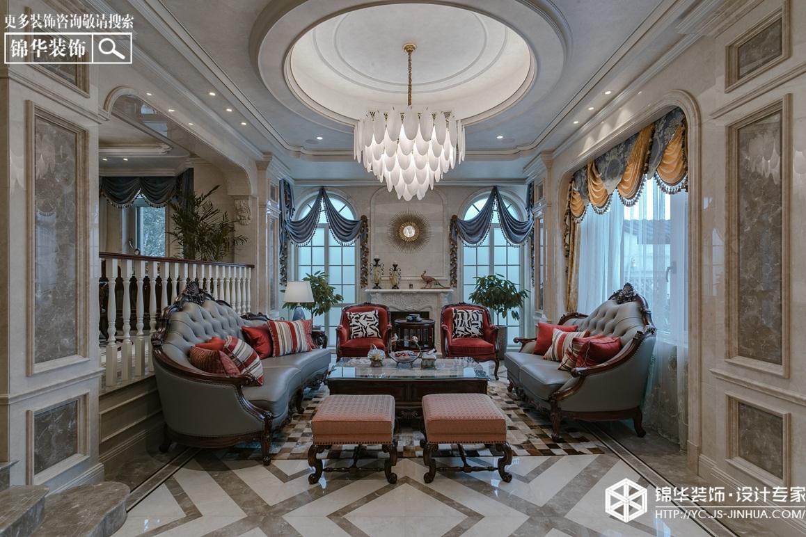 美式风格-半岛花园-别墅-380㎡装修实景效果图