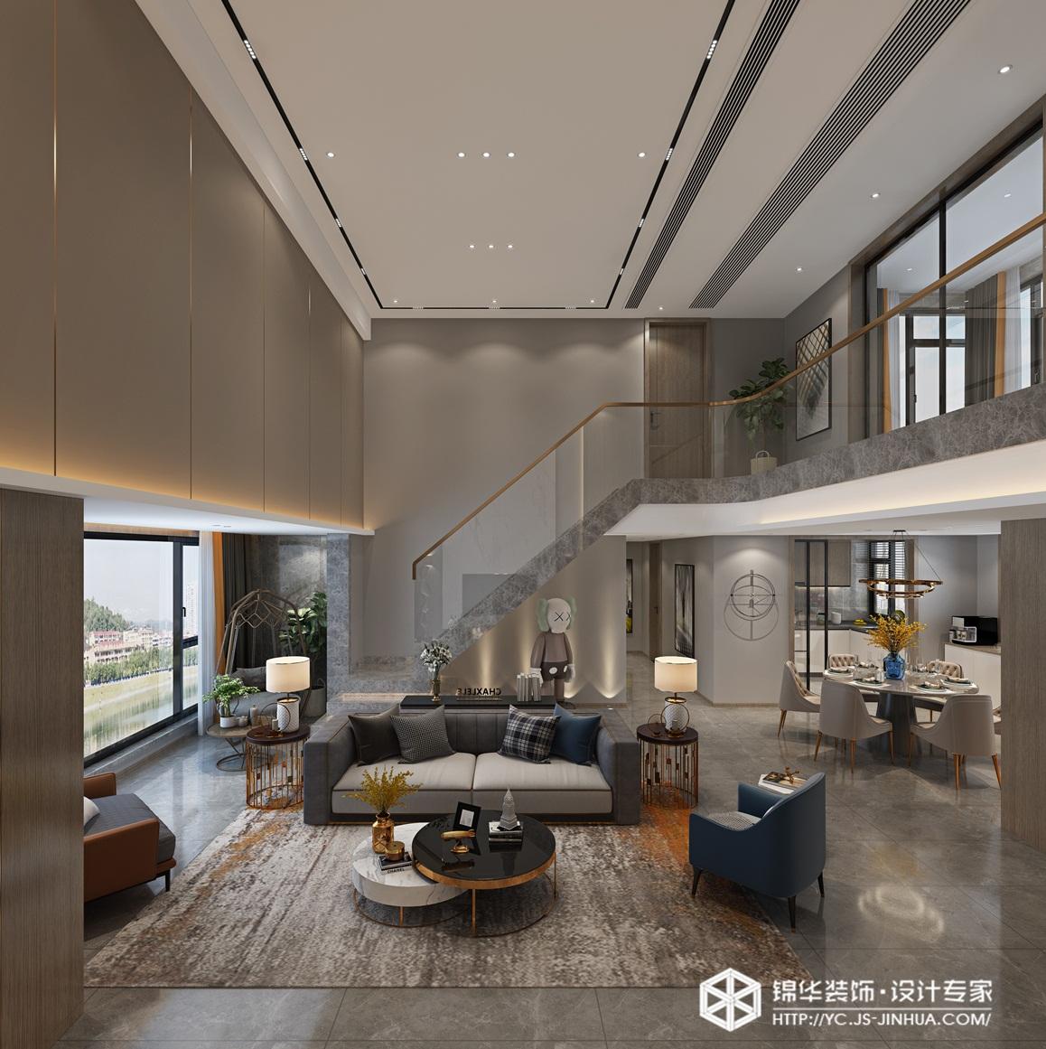 现代简约-中海万景园-平层-220㎡-装修实景效果图装修-跃层复式-现代简约