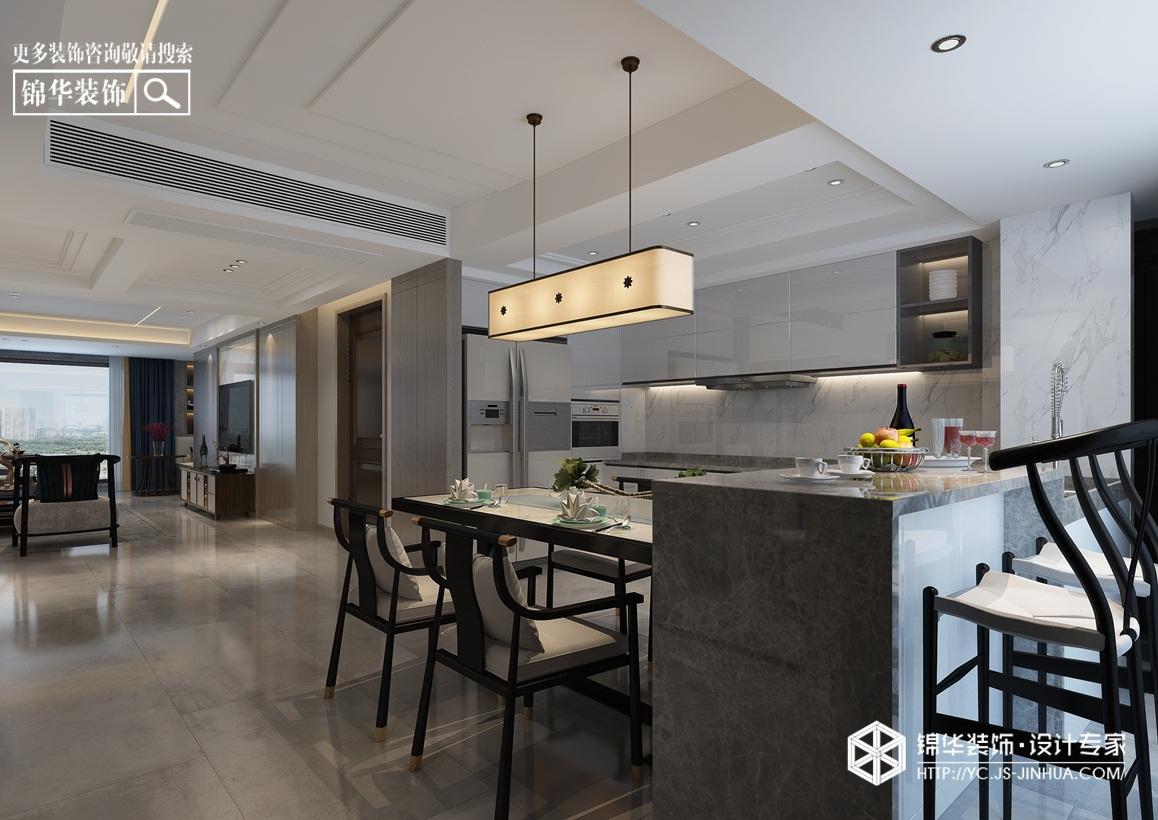 新中式风格-橡树湾-别墅-260㎡装修实景效果图装修-大户型-新中式