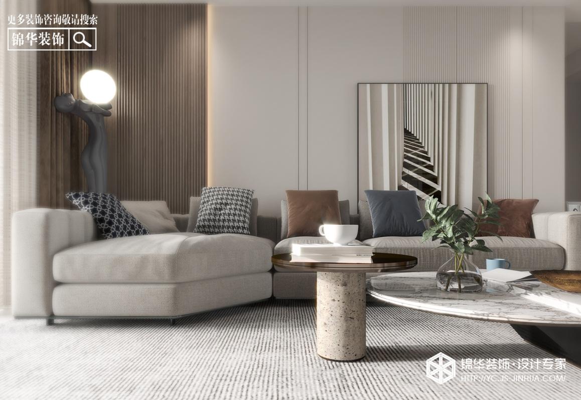 现代简约-阜宁天鹅丽都-三室两厅-140㎡-装修实景效果图