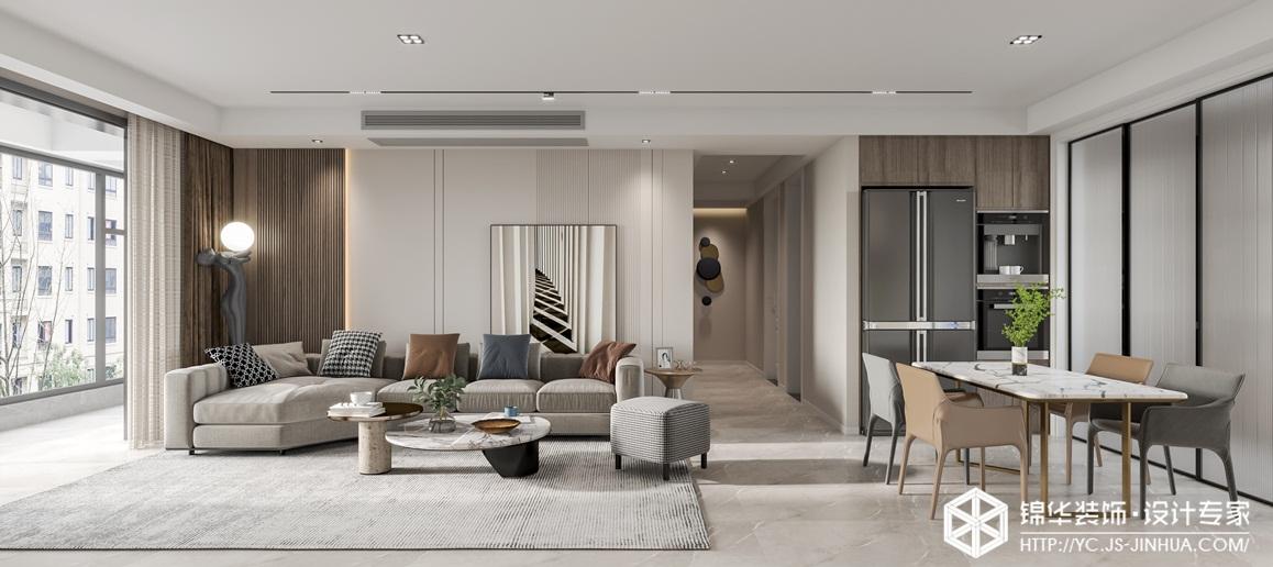 现代简约-阜宁天鹅丽都-三室两厅-140㎡-装修实景效果图装修-三室两厅-现代简约