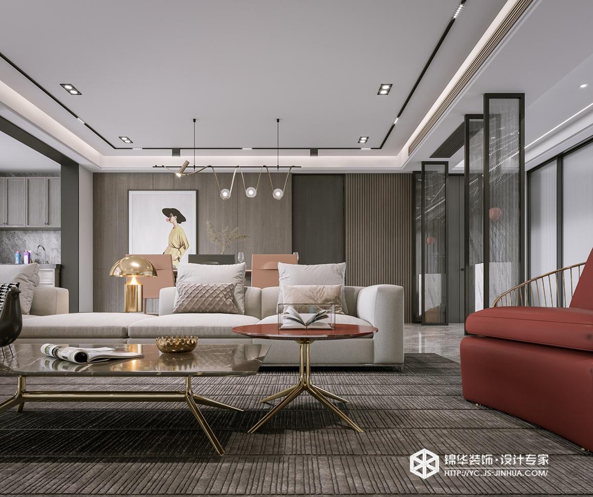 现代简约-大丰 荣润理想城-四室两厅-190㎡-装修实景效果图