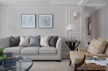 现代美式-日月星城-四室两厅-190㎡-装修实景效果图