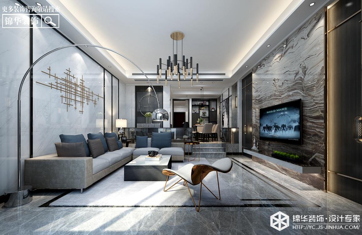 现代风格-城市御墅-别墅-300㎡-装修实景效果图