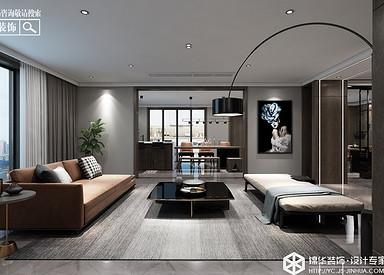 现代简约-紫缘公寓-平层-260㎡装修实景效果图