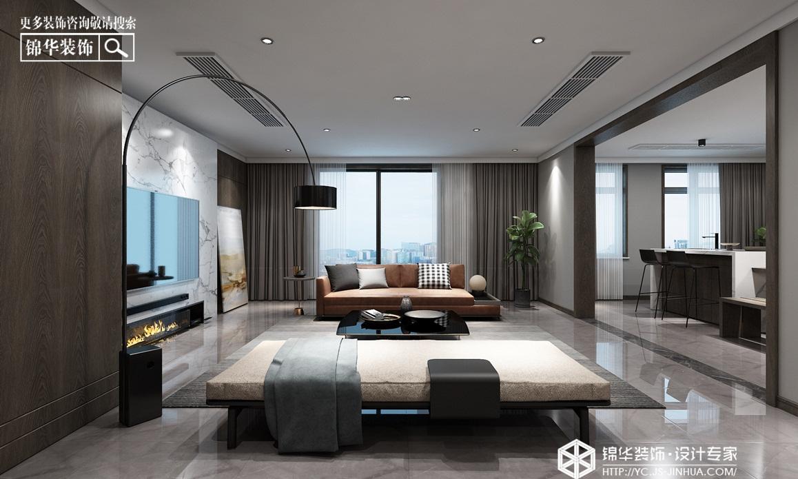 现代简约-紫缘公寓-平层-260㎡装修实景效果图装修-大户型-现代简约
