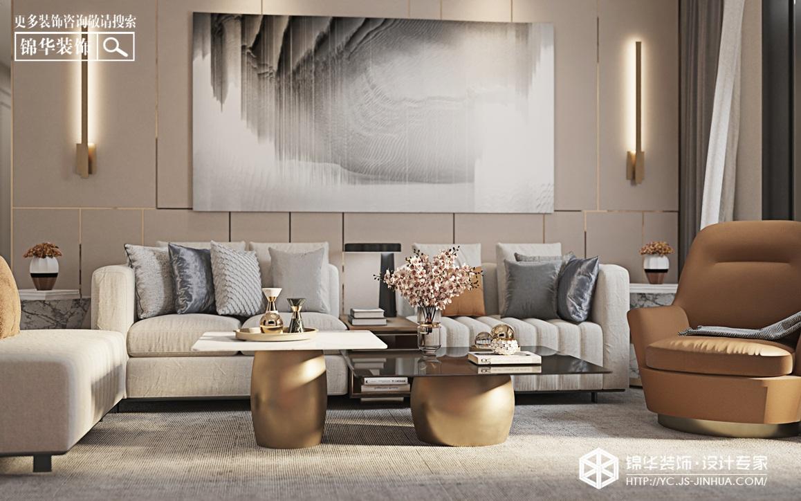 现代简约-悦珑湾-三室两厅-140㎡-装修实景效果图