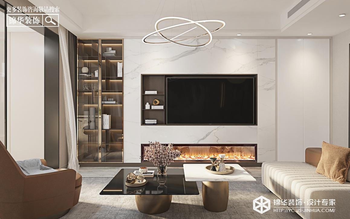 现代简约-悦珑湾-三室两厅-140㎡-装修实景效果图装修-三室两厅-现代简约