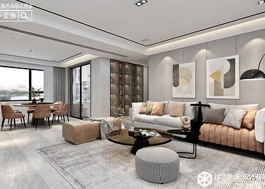 现代简约-碧桂园天玺-四室两厅-195㎡装修实景效果图