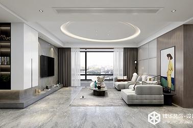 现代意式-碧桂园天玺-四室两厅-195㎡装修实景效果图