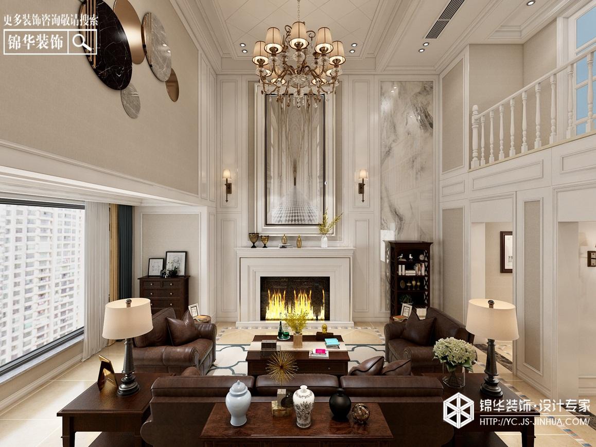 简约美式-中海万锦园-复式-185㎡装修实景效果图