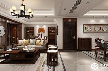 新中式风格-中梁聚龙首府-三室两厅-128㎡装修实景效果图