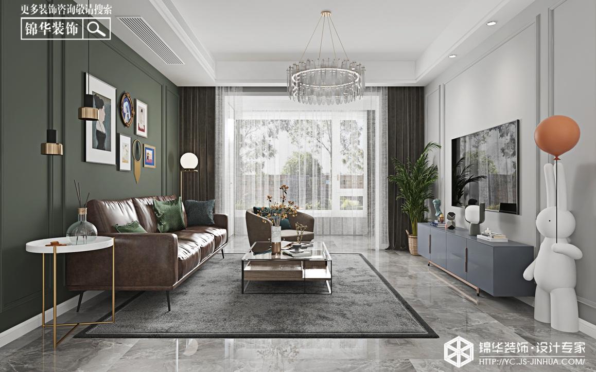 轻奢美式-锦盛豪庭-三室两厅-124㎡装修实景效果图装修-三室两厅-轻奢