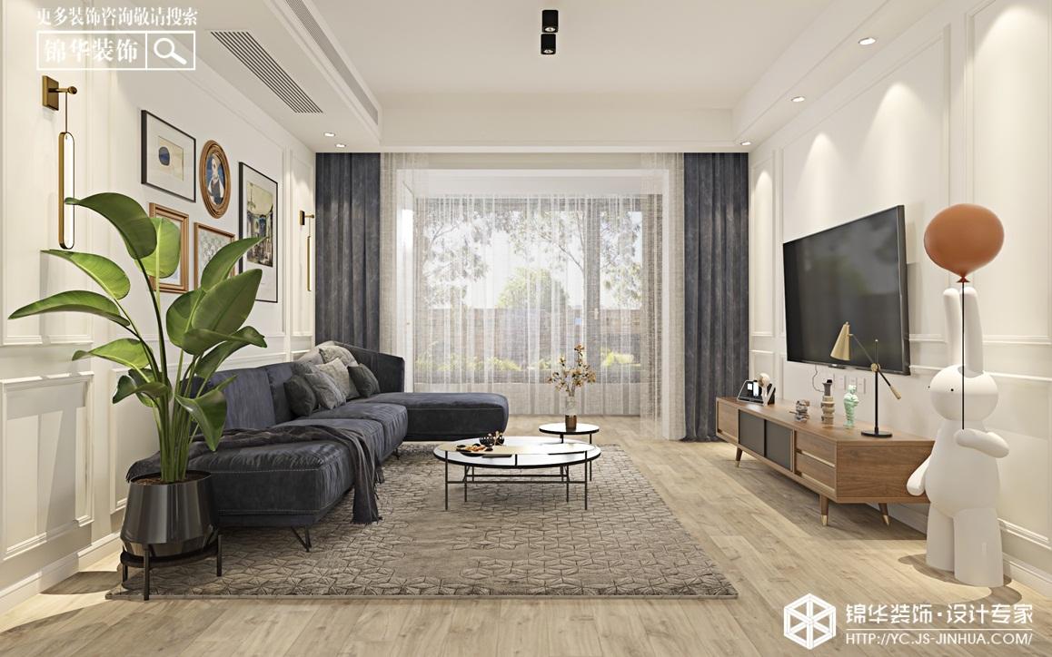 现代简约-锦盛豪庭-三室两厅-124㎡装修实景效果图装修-三室两厅-现代简约