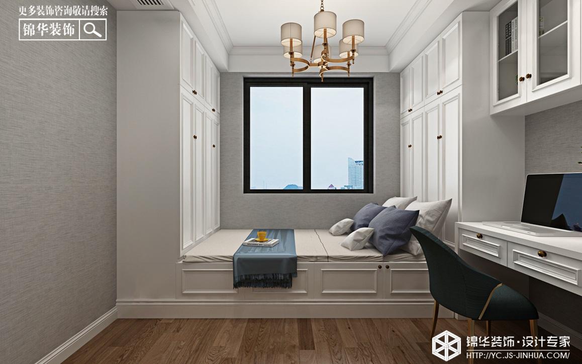 美式-日月星城-三室两厅-130㎡装修实景效果图装修-三室两厅-简美
