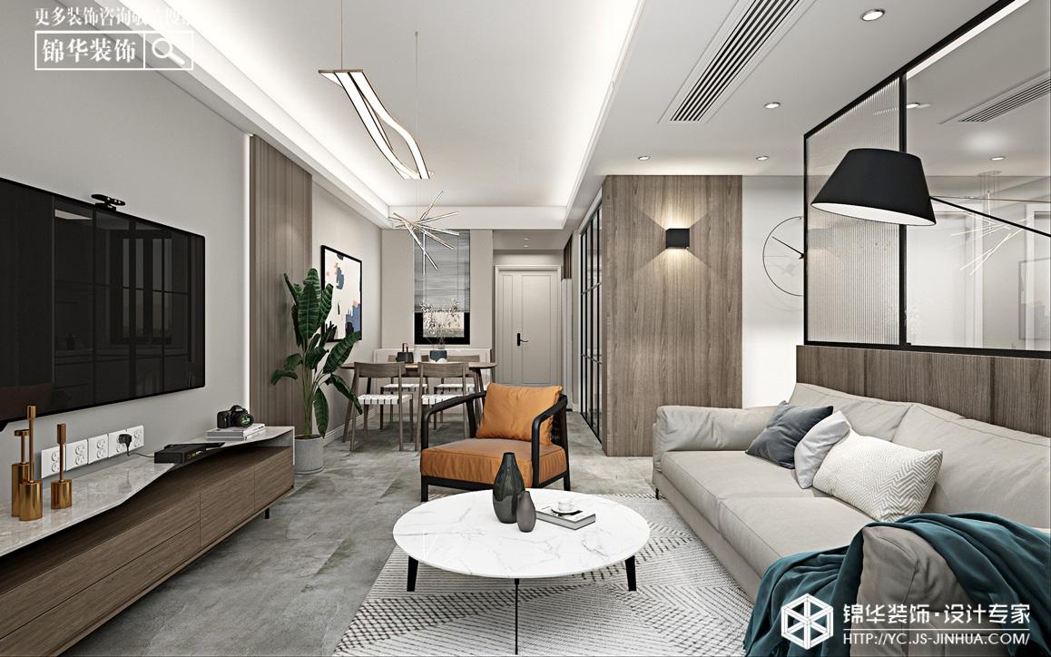 现代轻奢-四季金辉-三室两厅-96㎡装修实景效果图