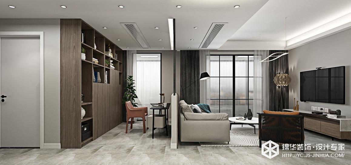 现代轻奢-四季金辉-三室两厅-96㎡装修实景效果图装修-三室两厅-现代简约