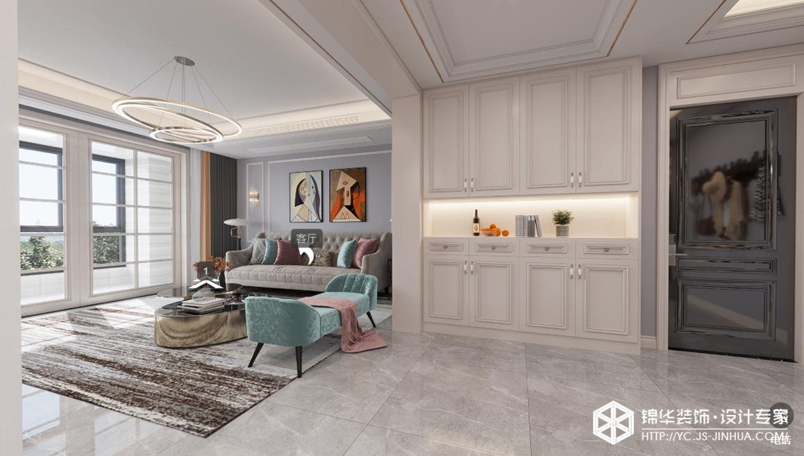 美式轻奢-阳光水岸-四室两厅-160㎡装修实景效果图装修-四室两厅-轻奢
