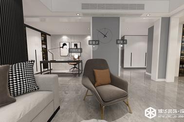 现代简约-香苑西园-四室两厅-170㎡装修实景效果图