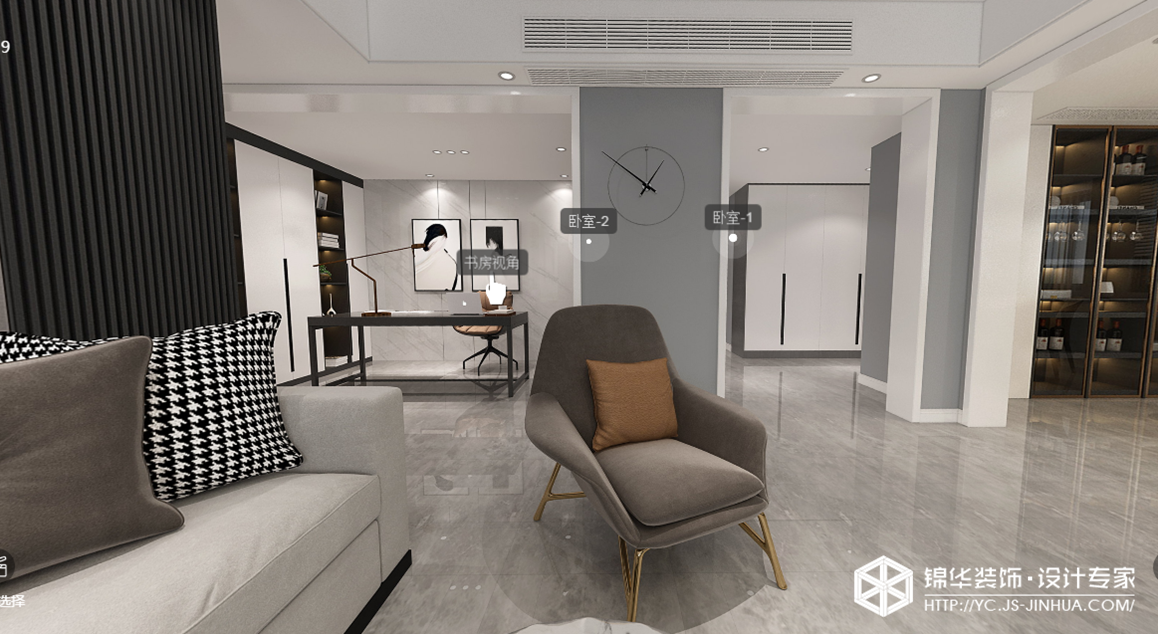 现代简约-香苑西园-四室两厅-170㎡装修实景效果图装修-四室两厅-现代简约
