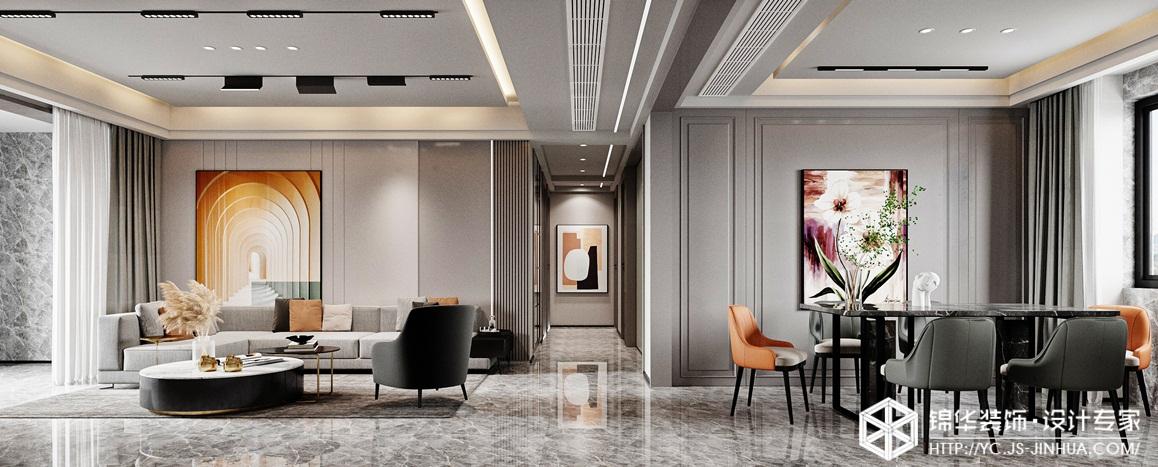 现代简约-海德公园-三室两厅-140㎡装修实景效果图装修-三室两厅-现代简约