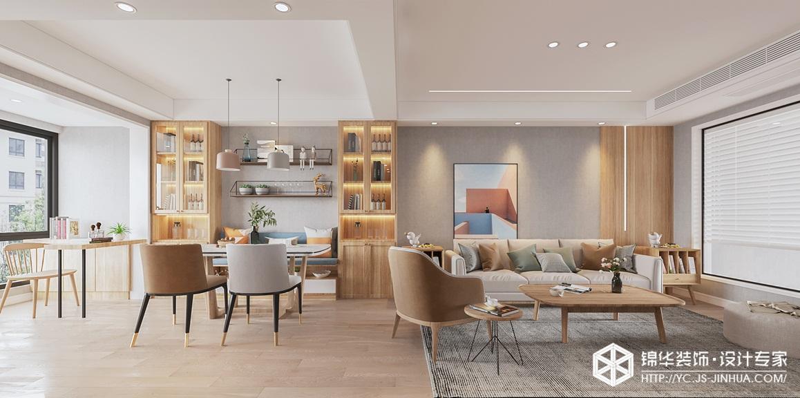 现代简约-香苑东园-三室两厅-120㎡装修实景效果图装修-三室两厅-现代简约