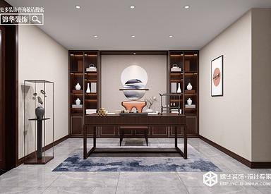 新中式风格-奥林匹克花园-别墅-230㎡装修实景效果图
