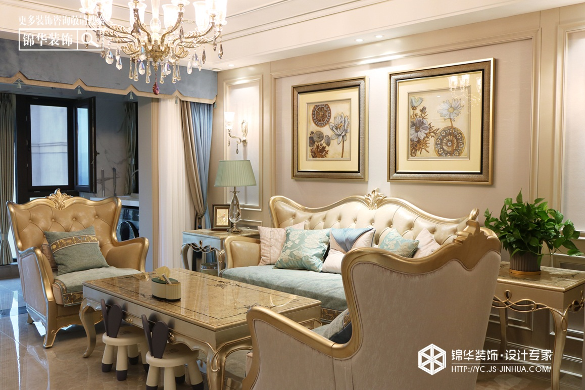 简美-橡树湾-四室两厅-140㎡装修实景效果图