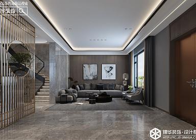 现代风格-十里香溪-别墅-410㎡装修实景效果图