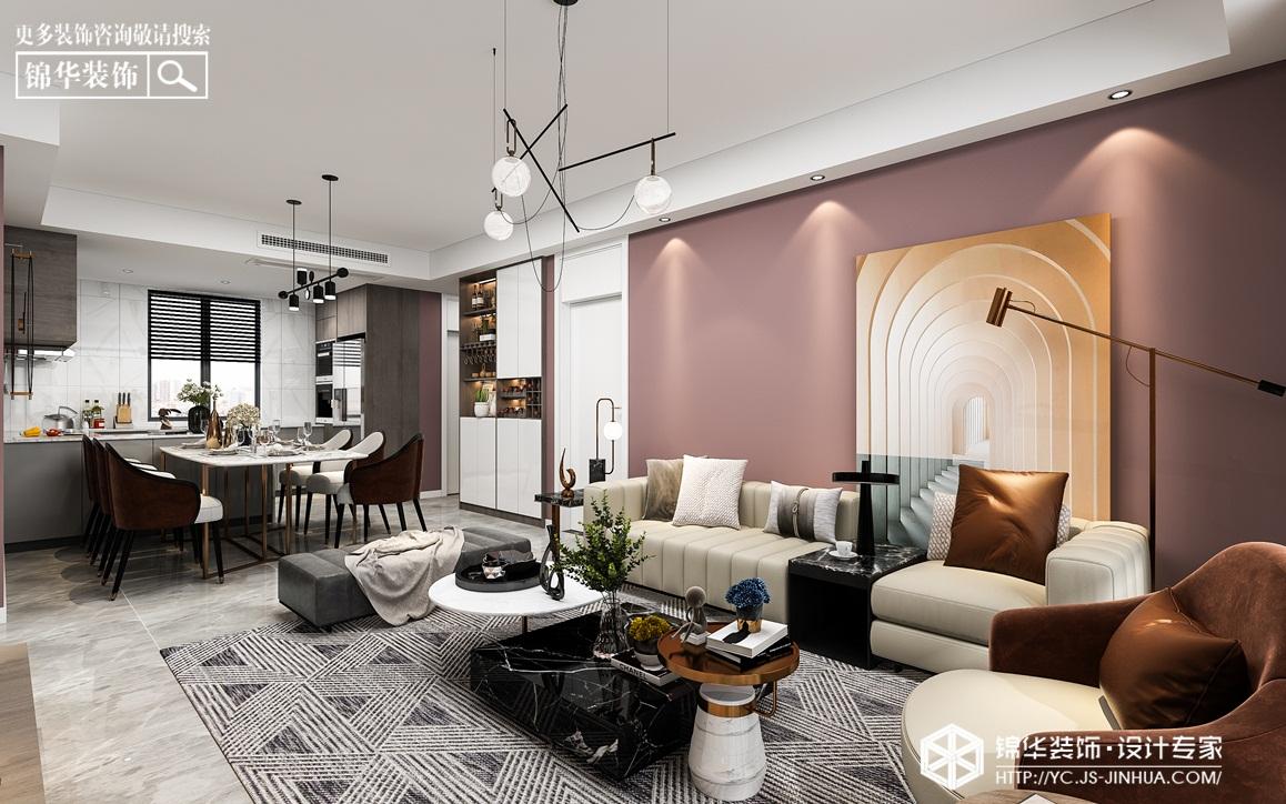 现代风格-碧桂园君悦府-三室两厅-110㎡装修实景效果图