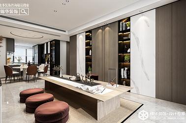 现代轻奢-万达大公馆 -三室两厅-140㎡装修实景效果图