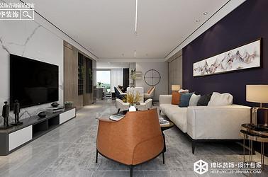 现代轻奢-橡树湾 -三室两厅-130㎡装修实景效果图