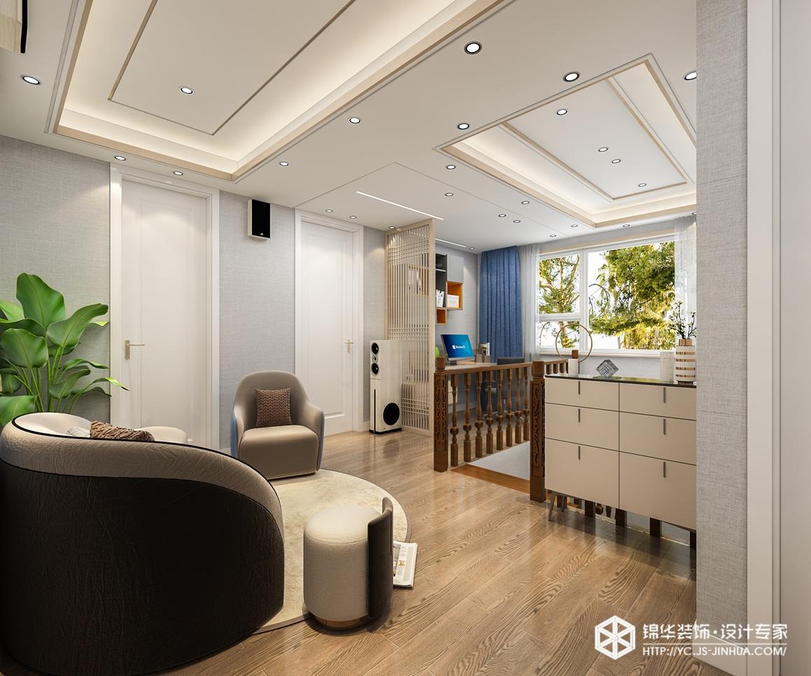 新中式-中梁聚龙首府 -别墅-400㎡装修实景效果图装修-别墅-新中式