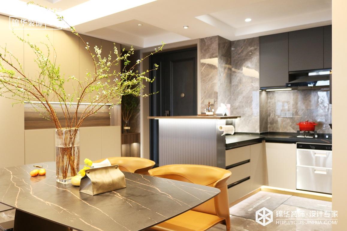 极简-钱江绿洲 -两室两厅-117㎡装修实景效果图
