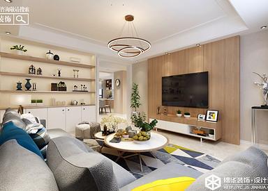 现代简约-杨坝花园-三室两厅-132㎡装修实景效果图